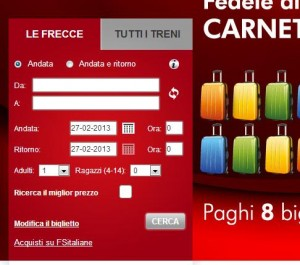 Trenitalia: Widget in Home