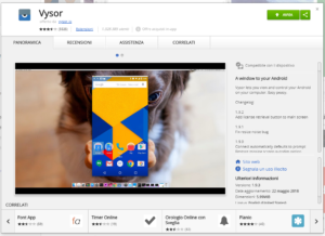 Android Mirror con Chrome